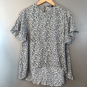 Zara Women's Animal Print Blouse